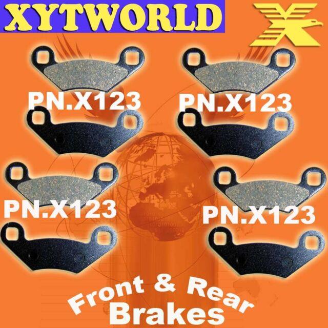 Front Rear Brake Pads Polaris 330 ATP 4x4 2004-2005