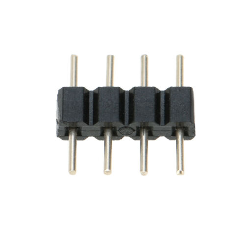 6 X 4-Pin Macho Adaptador De Enchufe Conector para RGB 3528 5050 Led Tiras