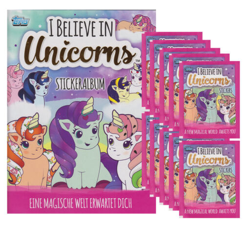 Topps-I believe in unicornios-cromos 1 album 10 bolsas