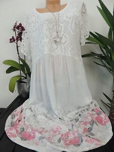 Damen Kleid Grosse 46 48 50 52 54 Ubergrosse Kleider Maxikleid Blumen Spitze 127 Ebay