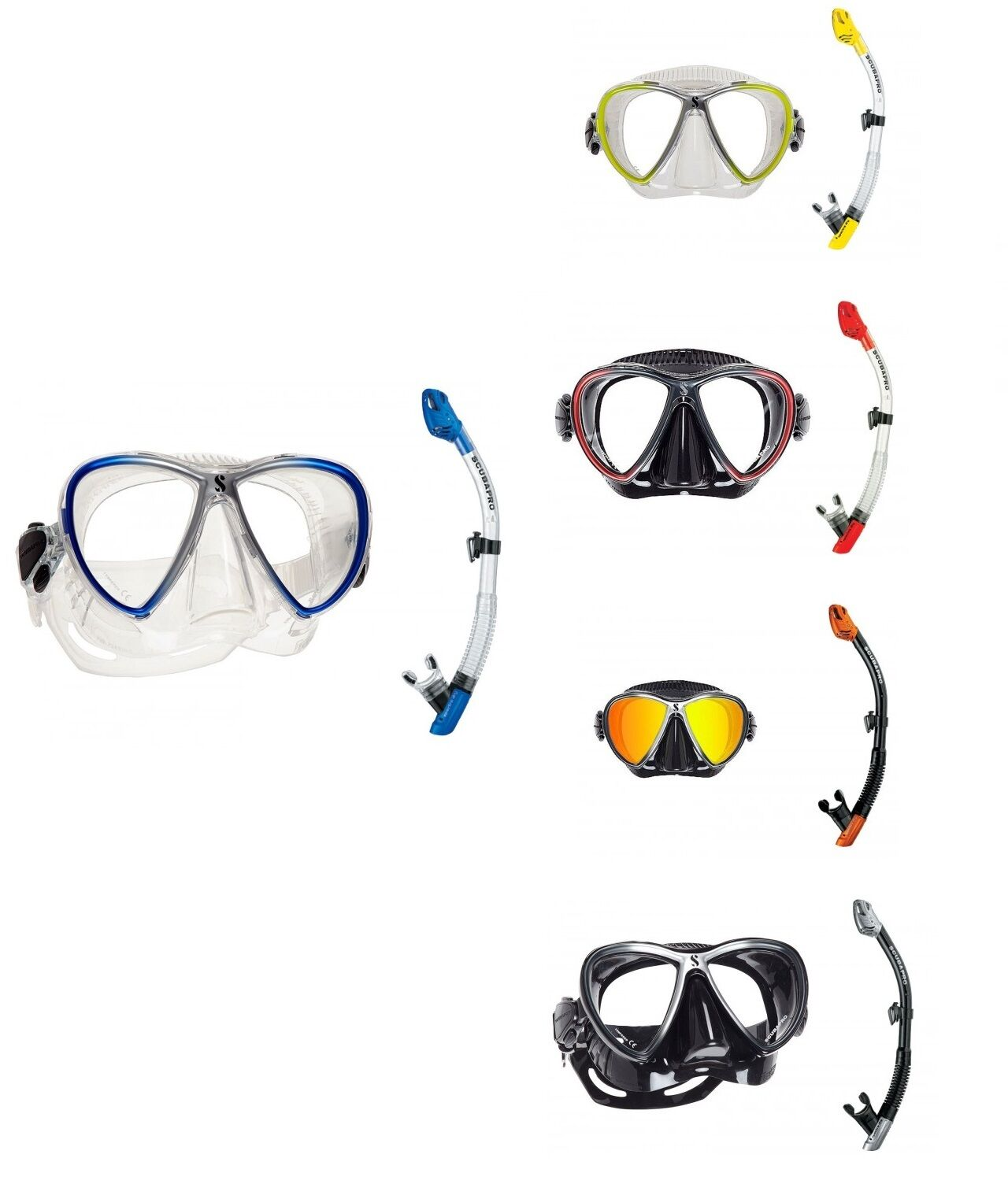 Scubapro Synergy Twin Spectra Dry Schnorchelset maskenset Various Colours