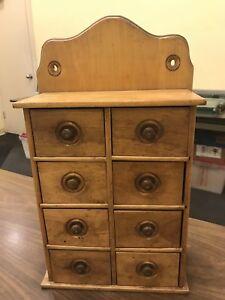 Details About Vintage Antique Wooden Spice Rack 8 Drawer Circa 1920s