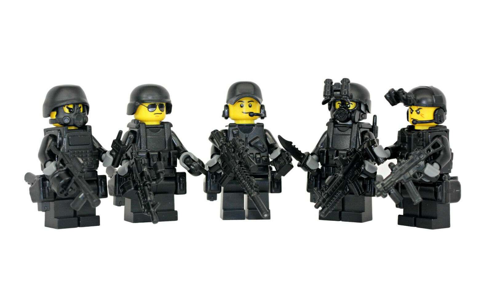 specialeeee Forces 5 uomo Squad  Military fatto with real LEGO(R) minicifra parts  100% autentico