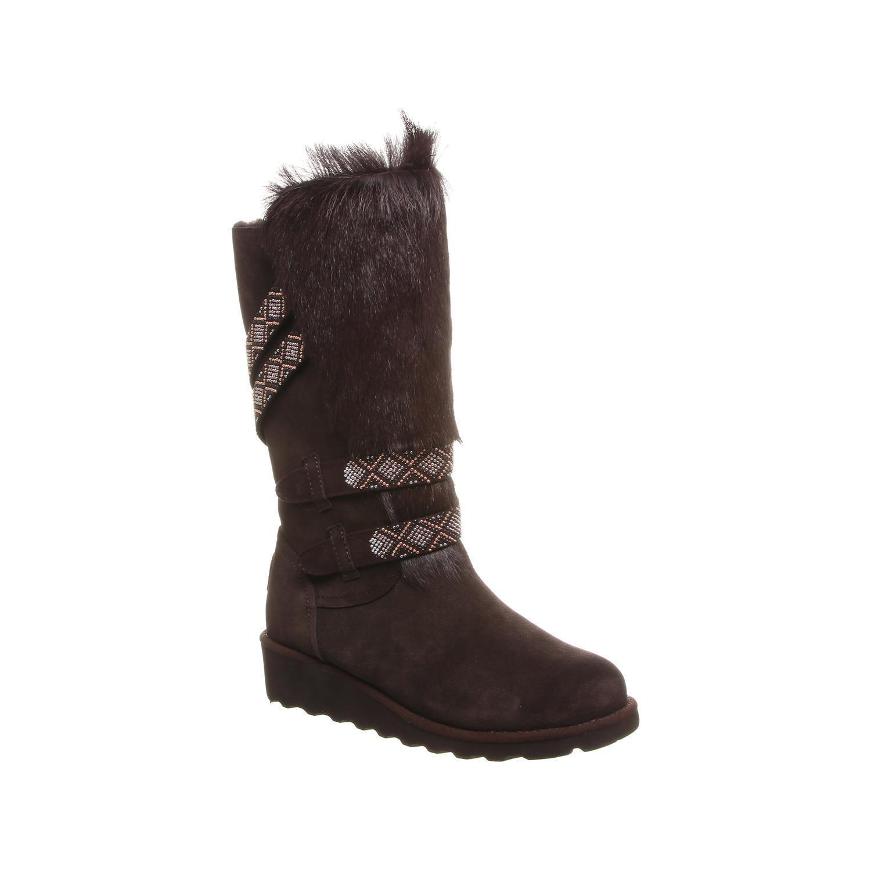 Bearpaw Claudia - Wouomo 13 Inch Fur avvio - 2158w Chocolate - 9