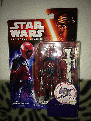 100% Wahr Star Wars The Force Awakens Guvian Enforcer 3.75 Inch Figure