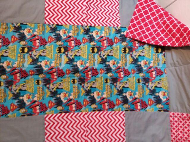 Wonderwoman,Supergirl,Batgirl handmade Crib/Toddler quilt ...