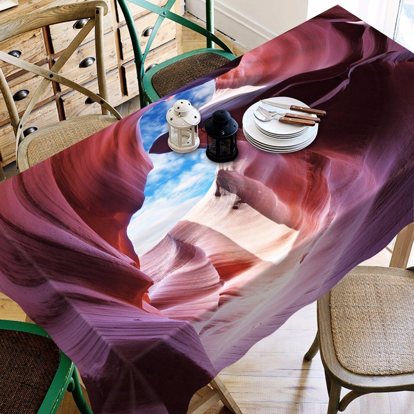 3D Cave Sky Nappe Table Cover Cloth fête d'anniversaire AJ papier peint Royaume-Uni Citron