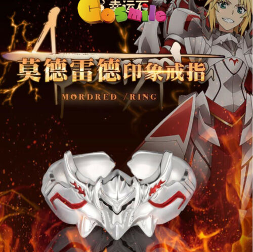 Christmas Gift Fate Apocrypha Mordred Ring 925 Slive Helmet Jewelry Anime Cos