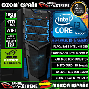 Ordenador-Gaming-Pc-Intel-i3-16GB-1TB-Asus-GT1030-2GB-Wifi-Office-de-Sobremesa