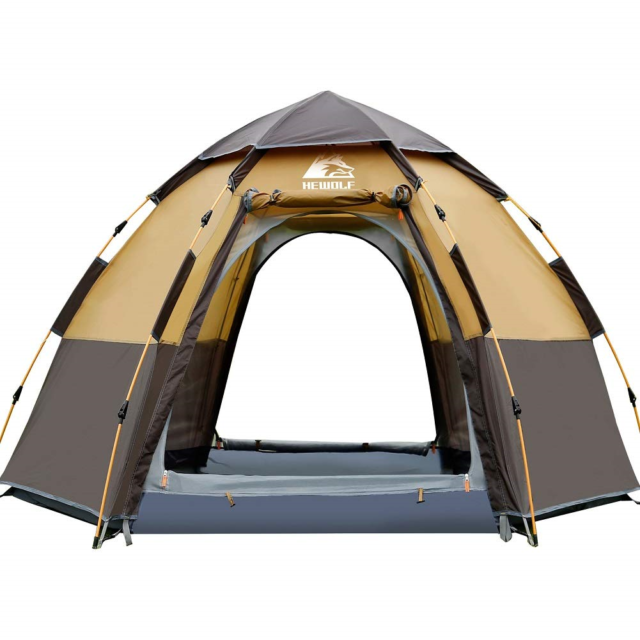 Hewolf Pop Up Tent For 3 To 4 Person Automatic Opening Hexangular Hydraulic Tent For Sale Online Ebay
