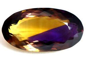 VVS-20-95-CT-Naturel-Jaune-amp-Violet-Bolivie-Ametrine-Etincelant-AAA-Pierre