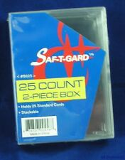10 plastic 25 count Boxes for shipping Baseball Basketball Football Hockey Cards