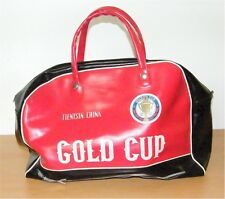 Borsa sportiva dai 60er 70er anni da ping pong TIENTSIN CINA Gold Cup