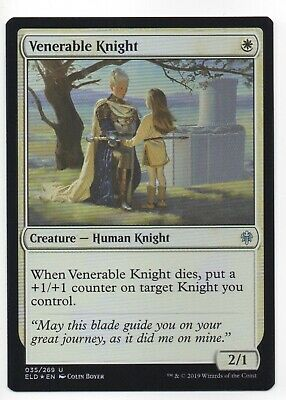 Venerable Knight Throne Of Eldraine Mtg Card Mint Condition
