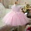 Flower Girl Lace Dress Kid Formal Bow Dress Baby Party Ball Gown 12M-13T