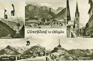 Qualifiziert Alte Ansichtskarte Postkarte Oberstdorf 1958 Mehrbild Gelaufen ZuverläSsige Leistung Bayern