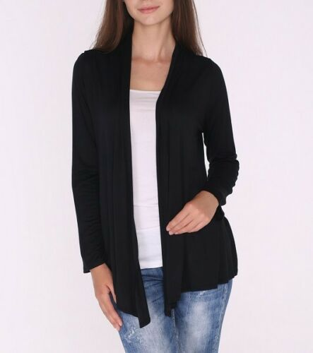 Classic Open Front Draped Cardigan Top Shirt Sweater Career Office SML//Plus Size