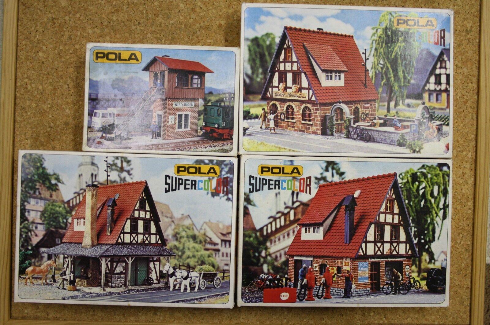 POLA Signal Tower,Inn,Bicycle&Smithy HO 1 87
