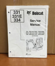 Bobcat 331 334 Compact Excavator Service Manual Shop Repair Book 6 Pn 6902743