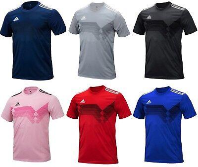 Adidas Men CAMPEON 19 Shirts S/S Soccer Jersey Black Blue Climalite Shirt DU4390 | eBay