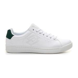 Scarpe-Lotto-210639-1l4-Bianco-Verde-Uomo-Sneakers-Moda-Basse