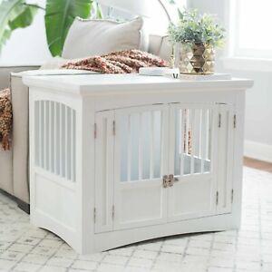 Wooden Dog Crate Large Indoor Pet Furniture Side End Table Cage Kennel Wood  Cat