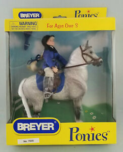 Breyer-7035-Classic-Scale-Ponies-Dapple-Grey-Horse-Hair-Mane-amp-Tail-NIB
