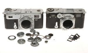 Kiev-Arsenal-4A-1964-and-Zeiss-Contax-II-incomplete-cameras-sold-as-is