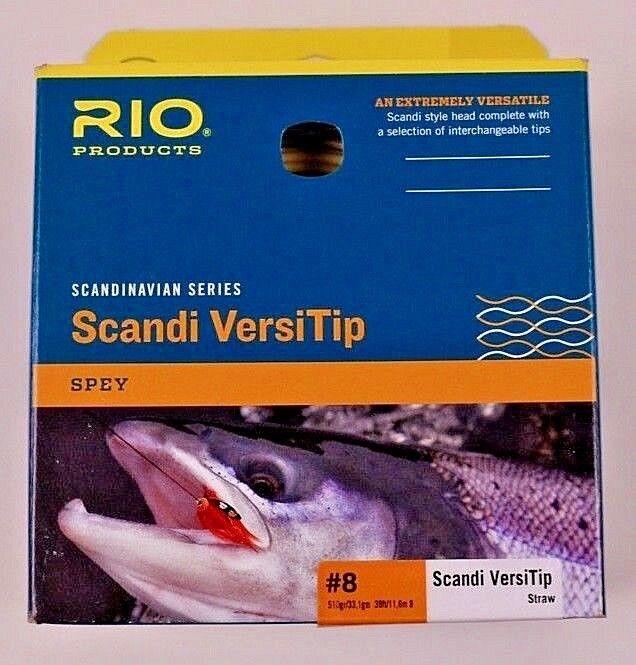 Rio Scandi VersiTip  8 510 Grain Spey Head Straw Free Exp Ship 620961