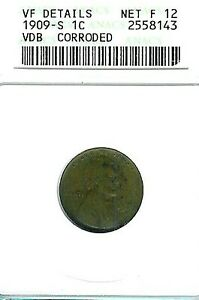 1909-S-VDB-Lincoln-Cent-ANACS-VF-Details-Net-Fine