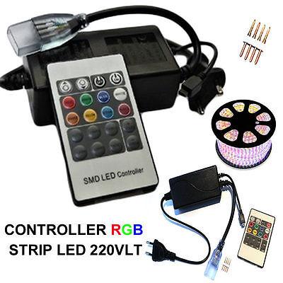 Umoristico Telecomando Bobina Striscia Strip Led Rgb 220v Dimmer Mini Centralina Controller