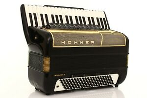 Accordion Hohner Imperator IV 120 Bass Double Cassotto LMMH Fisarmonica + Case