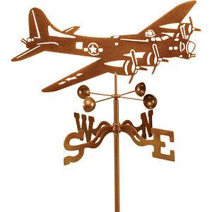 EZ Vane Outdoor Decor Bi-Wing Biplane Airplane Garden Roof Mount Weathervane