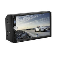 7 Double 2din Car Mp5 Mp3 Player Bluetooth Touch Screen Stereo Radio Hd