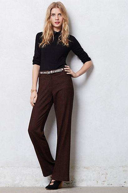 NWT New Anthropologie Textured Marola Wide-Legs Pants Leifsdottir 4  Brown