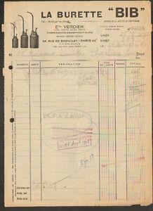 PARIS-XX-BURETTE-BIB-Fabricant-Constructeur-034-Ets-VERDIER-034-en-1948