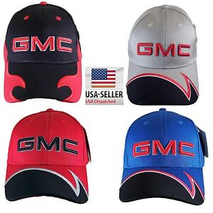 cbfb5c50c09 New Official Licensed GMC Baseball Hat 3D GMC Logo Adjustable Cap ...
