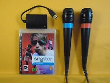 ps3 SINGSTAR VOL 1 + 2 Official Mics Microphones Playstation PAL