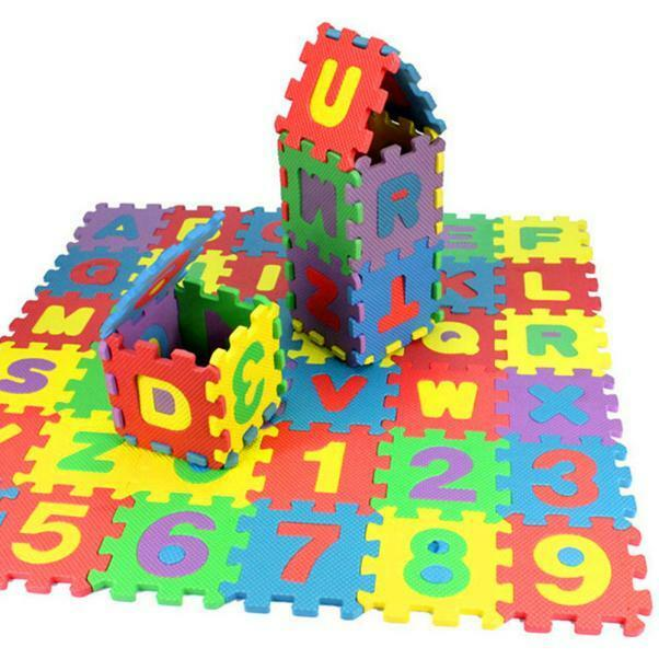 36 PCS SOFT EVA FOAM BABY KIDS PLAY MAT ALPHABET NUMBER PUZZLE TOY GIFT SMART