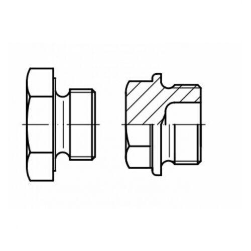 verz Stahl galv 10x DIN 7604 Verschlussschrauben mit Außensechskant M 10 x 6