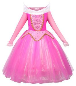 seleziona per ufficiale uomo miglior servizio Dettagli su Vestito Costume Da Principessa Aurora Ragazze bellezza Cosplay  Costume Vestito Da Festa Di Halloween- mostra il titolo originale