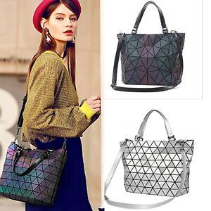 Women-Girls-Luminous-Geometric-Diamond-Handbag-Crossbody-Shoulder-Bag-Tote-New