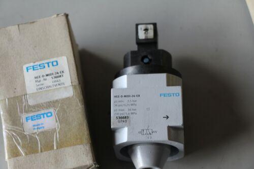 CTD Brand New FESTO On//off Start valve HEE-D-MIDI-24 536683
