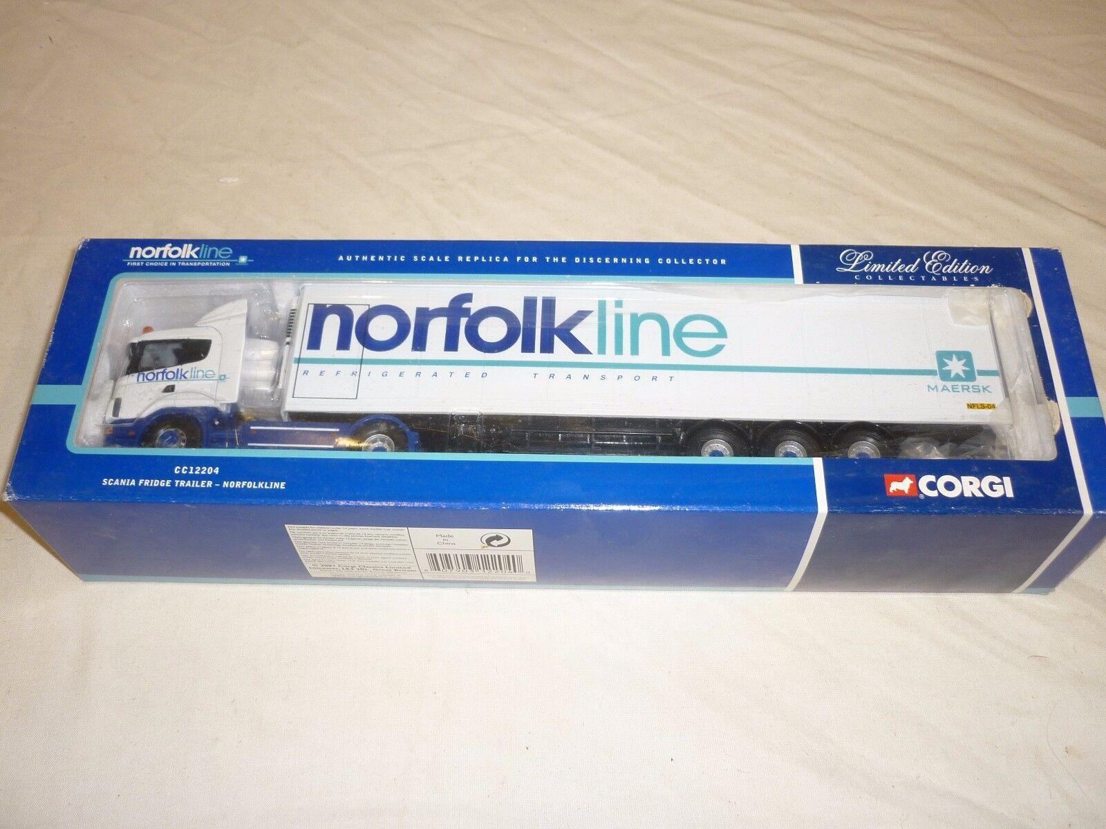 Ein corgi - 12204 scania, kühlschrank, wohnwagen, norfolk line umzingelt