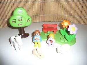 1-2-3-Playmobil-6757-Prado-de-Verano-con-Animales-Completo-sin-Emb-orig-B12