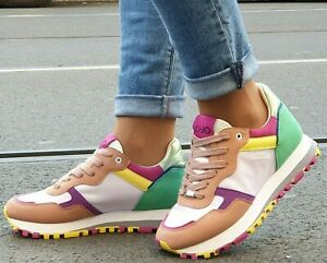 LIU-JO-Schuhe-WONDER-2-0-NUDE-Multicolor-Leder-Mesh-Damen-Sneaker-Made-in-Italy