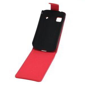 Flip-Case-Etui-Handytasche-Tasche-Hulle-f-Samsung-Galaxy-Gio-Rot