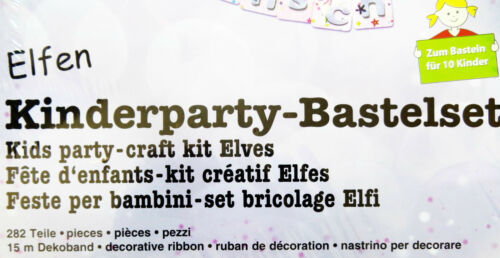 282tlg 10Kinder Kindergeburtstag Partypaket URSUS Partyset Mädchen Bastelset f