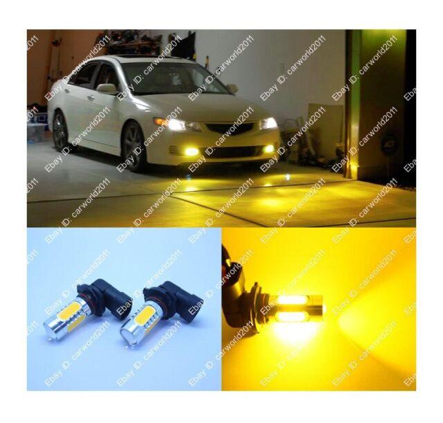 2x High Power 9006 HB4 LED Yellow Orange Amber Low Beam Fog Driving Lights Bulb