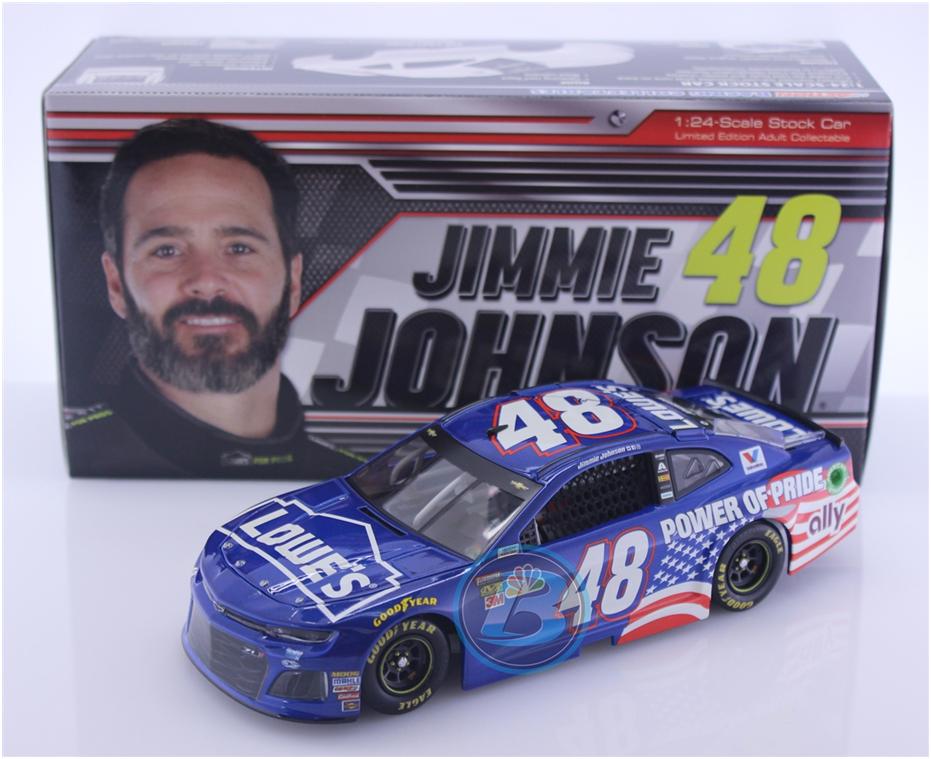 NASCAR 2018 JIMMIE JOHNSON   48 POWER OF PRIDE LOWES 1 24 CAMARO
